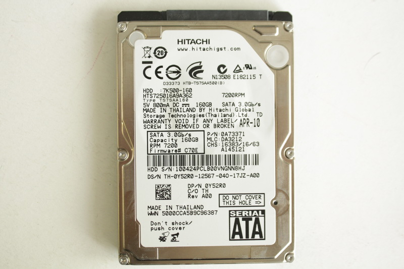 "Disque SATA 2""1/2 Hitachi 160 GB"